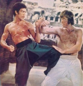 Bruce Lee fighting Chuck Norris in Return of the Dragon